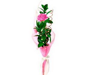 «Для тебя»  Букет из одной розы,оформленной необычным образом будет прекрасным выражением чувств.Роза может быть разного цвета.Укажите цвет розы в комментариях флористу. Доставка в Мингрельскую.